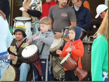 We loved seeing these kids join in the drumming performance