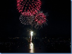8296 Ontario Kenora Best Western Lakeside Inn on Lake of the Woods - Canada Day fireworks from our room