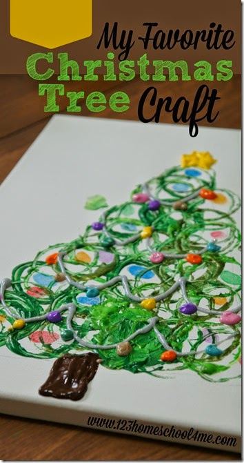 My Favorite Christmas Tree Craft!  Kids of all ages will love making this christmas craft that uses three simple techniques to make this stunning keepsake