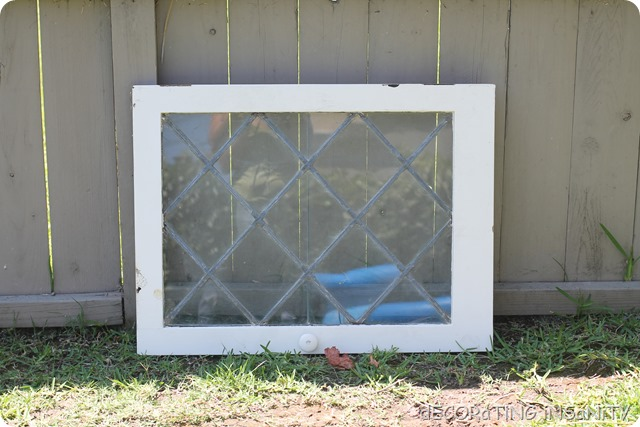 vintage leaded glass cabinet door