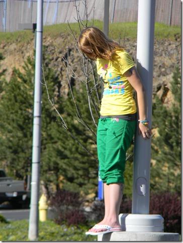 anne on light pole