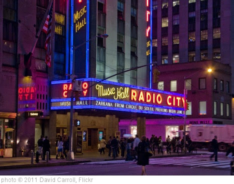 'Radio City Music Hall 2' photo (c) 2011, David Carroll - license: https://creativecommons.org/licenses/by-sa/2.0/