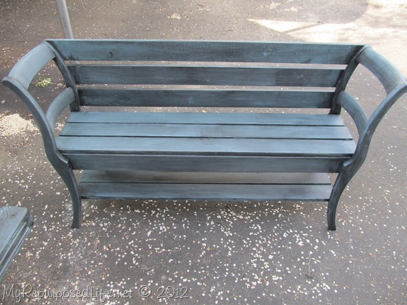 glazed double chair bench MyRepurposedLife.com