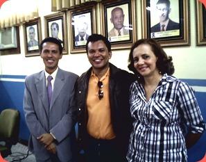 Vereador Neilton Bahia, Radialista Paulo José e Vereadora Professora Conceição
