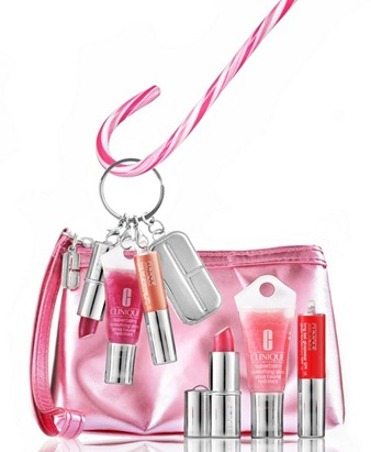CLINIQUE Lips to Go Set  lipstck Superbalm long wear lip gloss S$39