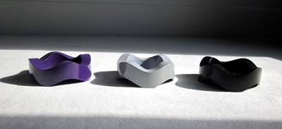 Helit Sinus ashtray violet, gray, and black