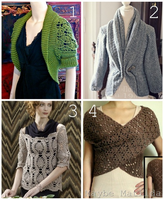 ladies sweater collage