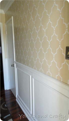 stenciled foyer