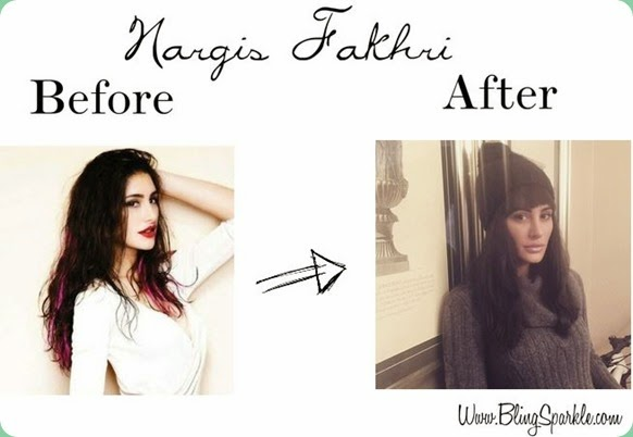 Nargis fakhri new hair cut