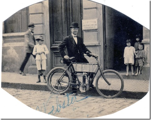 Frederick Emory Webster and Bike
