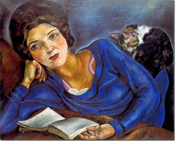Josep de Togores i Llach -Renée et le chat -1920
