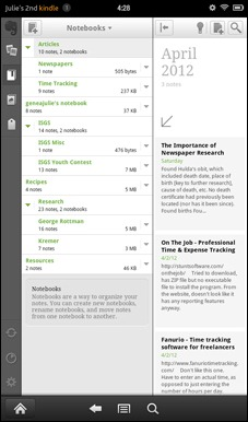 Kindle-evernote