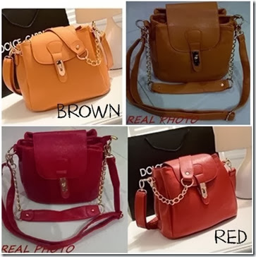 U9618 (195.000) - MATERIAL PU SIZE L25XH21X17CM, HAND STRAP 17CM WEIGHT 750GR COLOR RED,BROWN