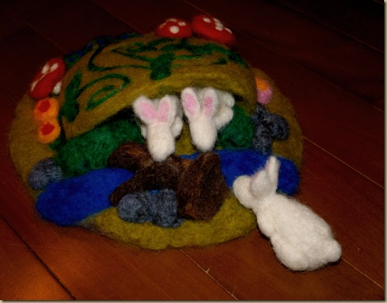 Needle felted Spring Play Set From Homeschool Mo 1
