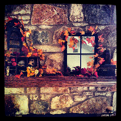 austin autumn fireplace decorations