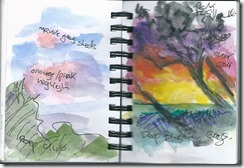 I do carry a small A7 sketchbook in my camera bag