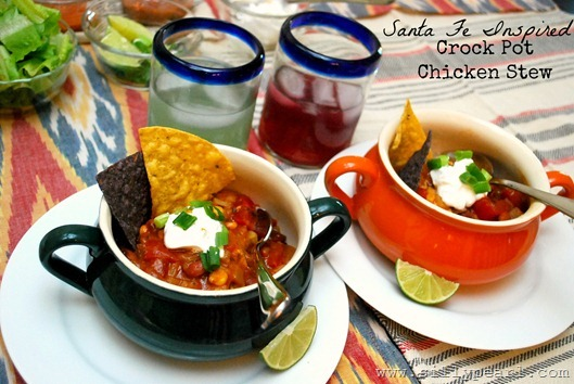 Santa Fe Inspired Crock Pot Chicken Stew - The Silly Pearl