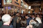 En el centro de la imagen frente al stand de Uruguay Secretario General de la OMT Taleb Rifai, Príncipes de Asturias, Ministro de Turismo de España José María Soria, y el Vicepresidente de Miembros Afiliados de la OMT Ramón de Isequilla