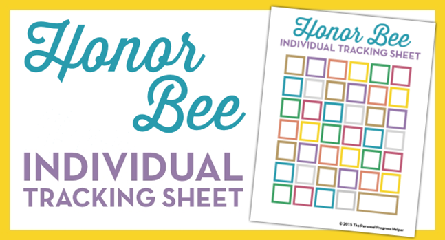 Honor Bee Individual Tracking Sheet | Free Download