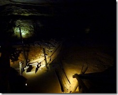 Old saltpetter mine in Mammoth Cave