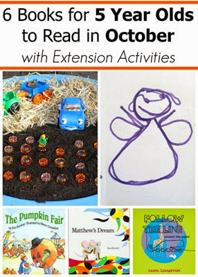 October Books for 5 Year Olds with Extension Activities