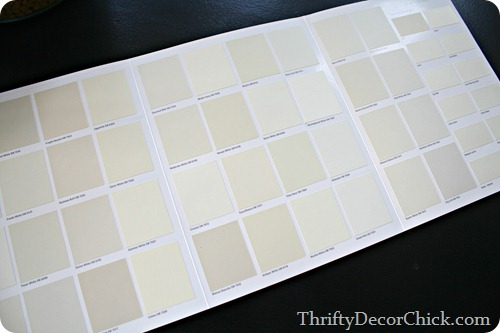 picking out a white paint color