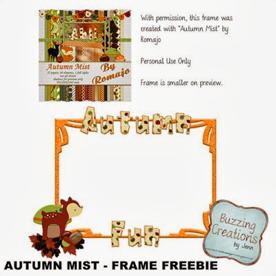 Romajo - Autumn Mist - Frame Freebie Preview