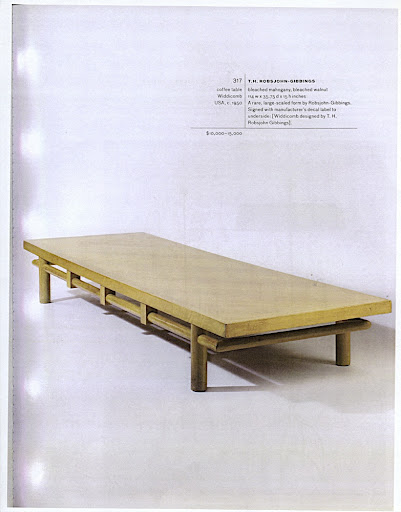 A coffee table by T.H. Robsjohn-Gibbings.