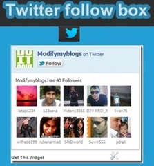 add twitter follow box