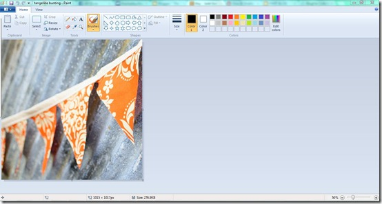 Creating a Shadow Box in Paint - start