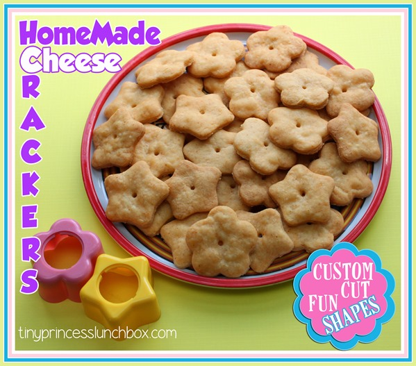 Homemade Cheese Crackers using ONLY four simple ingredients you probably have on hand!
