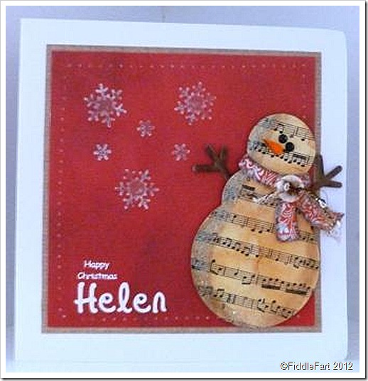 Music Snowman Christmas Card