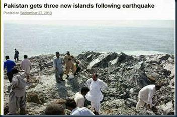 nova ilha no Paquistão