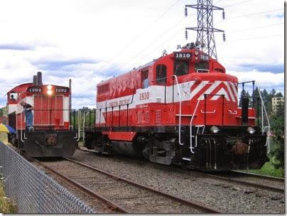 IMG_7674 Oregon Pacific GP7u #1810 & SW1200RSu #1202 at Oaks Park on July 15, 2007
