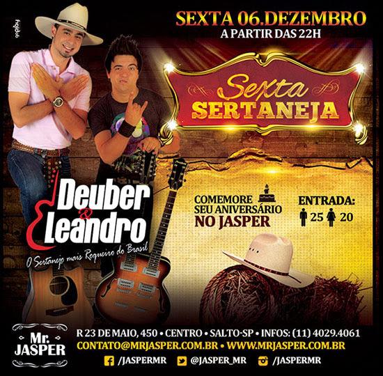 Dupla Deuber & Leandro no Mr. Jasper em Salto