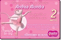 invitacion de angelina ballerina para fiesta