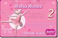 invitacion de angelina ballerina para fiesta