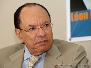 Léon Kengo Wa Dondo, président du Sénat congolais le 8/11/2011 à Kinshasa. Radio Okapi/ Ph. John Bompengo