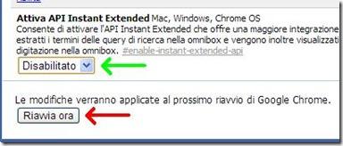 Chrome disattivare novità Nuova scheda