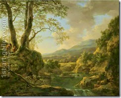 An-Extensive-River-Landscape-With-Herdsmen-Resting-Their-Goats-Under-A-Tree