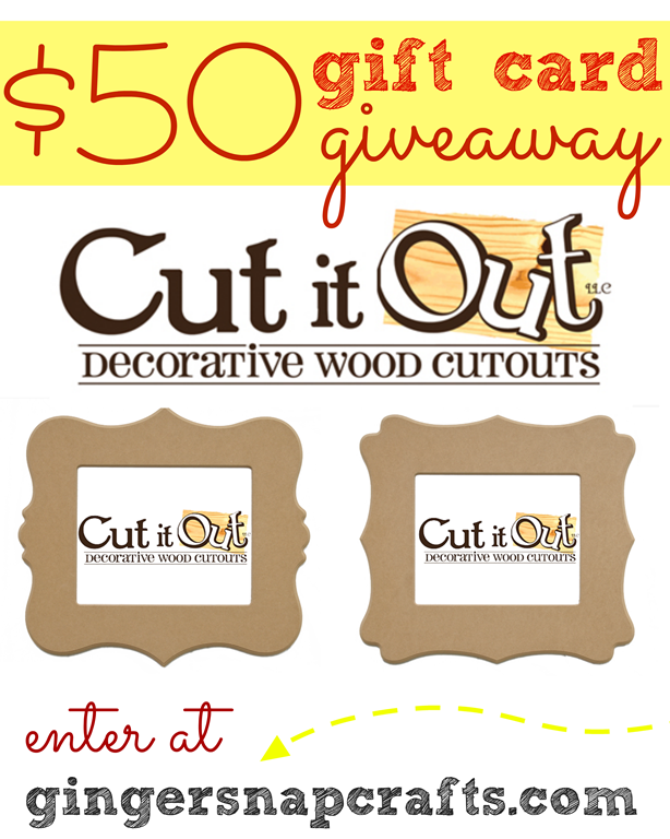 Enter to win a $50 gift card to Cut it Out at GingerSnapCrafts.com #spon #giveaway