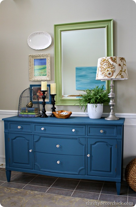 aubusson blue chalk paint dresser