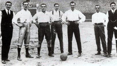 Joselito Maestranza futbol (Josele-Ignacio-Almendro-Curro Posada-Jose-Paco Botos-Rafael Posada)