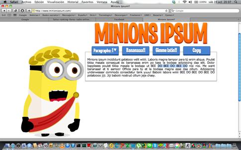 Minions ipsum