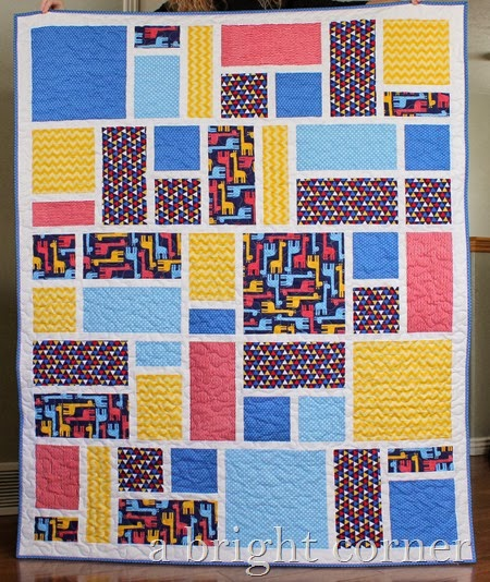 Jack's Blocks quilt from A Bright Corner (pattern available!)