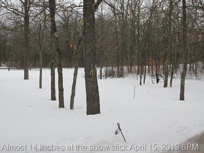Snow fall April 15