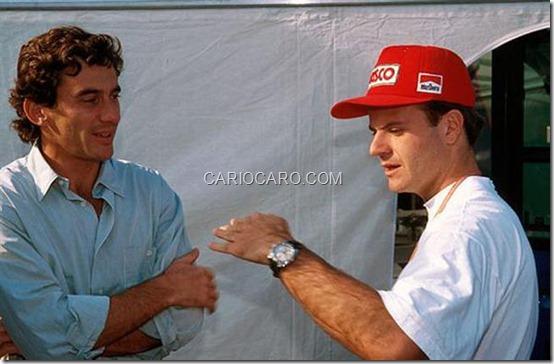 Z Ayrton Senna e rubens Barrichello