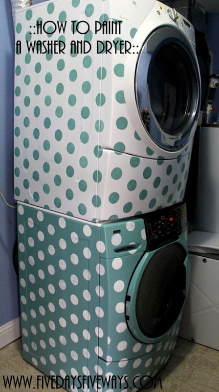 how to paint washer dryer