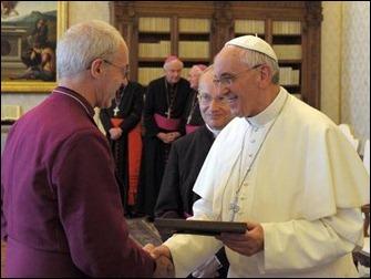 Papa Francisco e o líder mundial dos anglicanos, Justin Welby