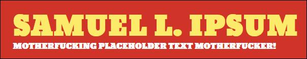 Samuel L. Ipsum logo